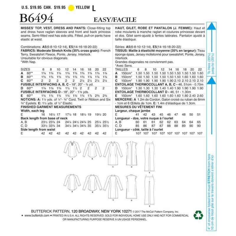 Wykrój Butterick B6330