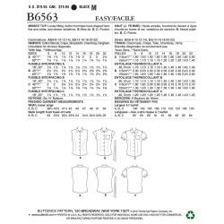 Wykrój Butterick B6563