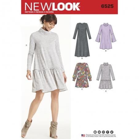 6525 newlook sweater dress pattern 6525 envelope f