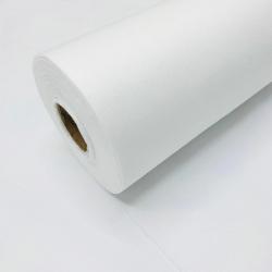 Flizelina wzmacniana biała z klejem