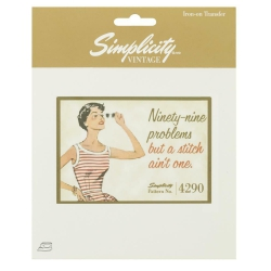 Simplicity Vintage Naprasowanka Ninety-Nine Problems