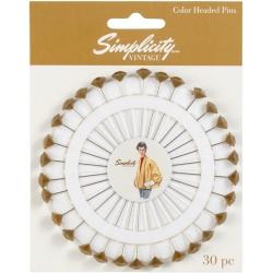 Simplicity Vintage Szpilki na krążku Gold