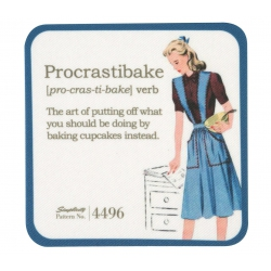 Simplicity Vintage Łatka z nadrukiem Procrastibake