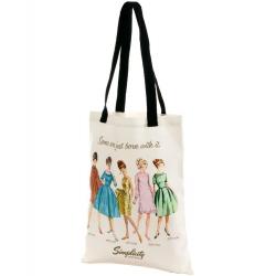 Simplicity Vintage płócienna torba- BORN WITH IT