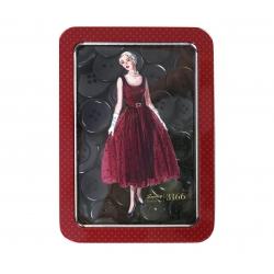 Simplicity Vintage  Czerwona puszka z guzikami
