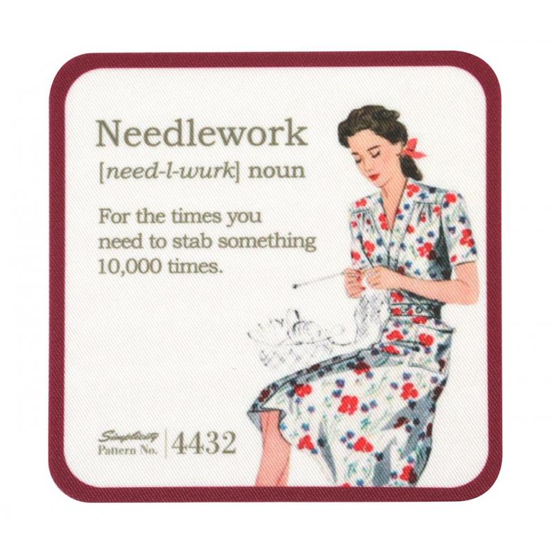 Simplicity Vintage Łatka z nadrukiem Needlework