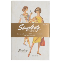 Simplicity Vintage Notatnik w twardej oprawie - wykroje 3481 3978
