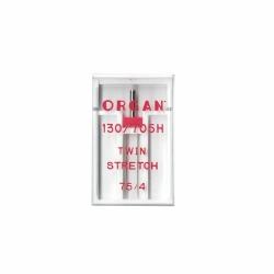 Igła Organ Twin Stretch 75/4,0