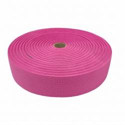 Guma tkana 50 mm różowy ciemny