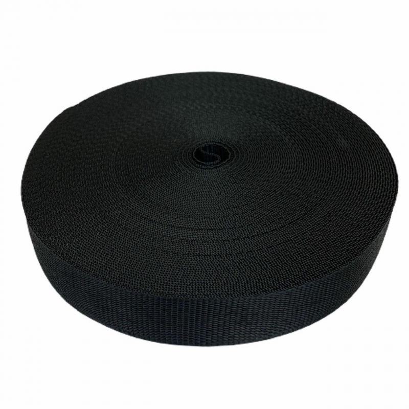 Taśma nośna 25 mm czarna