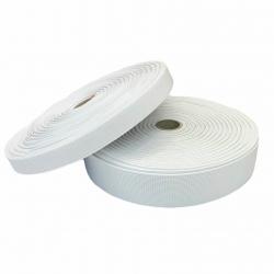 Guma tkana 30 mm biała