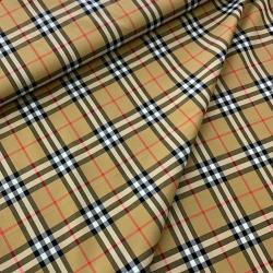Tkanina w kratę na koszulę