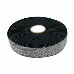 Guma 25 mm kolor czarno - srebrny
