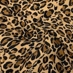 Tkanina wiskozowa twill - pantera brąz