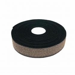 Guma  25 mm kolor czarno - złoty