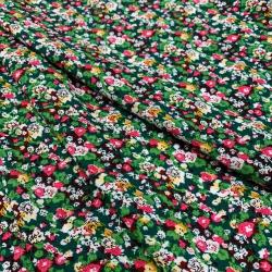 Tkanina wiskozowa chally - zielona łączka