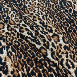 Tkanina wiskozowa chally - pantera brąz