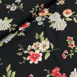 Tkanina wiskozowa chally - kwiaty