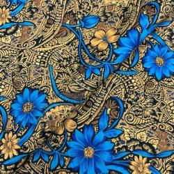 Tkanina w niebieskie kwiaty