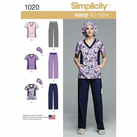 simplicity  scrubs pattern 1020 envelope front