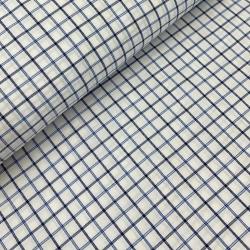 Tkanina koszulowa biała w kratkę