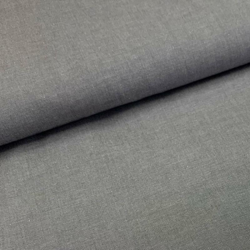 Tkanina bawełniana szara z elastanem