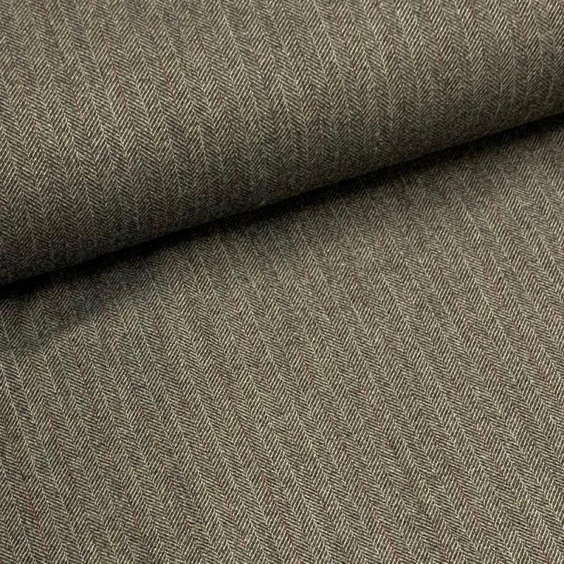 Tkanina bawełniana jodełka z bordową nitką
