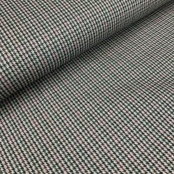 Tkanina bawełniana z elastanem zielona pepitka