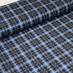 Tkanina bawełniana z elastanem w kratkę