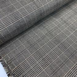 Tkanina bawełniana w kratę - brązy