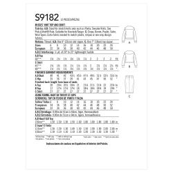 Wykrój Simplicity SS9182
