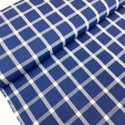 Tkanina bawełniana w kratkę - blue