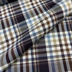 Tkanina bawełniana koszulowa w kratę