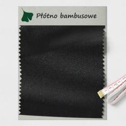 Płótno bambusowe czarne