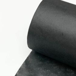 Flizelina wzmacniana czarna z klejem