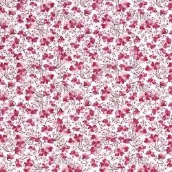 Tkanina bawełniana drobny wzór - kwiaty róż