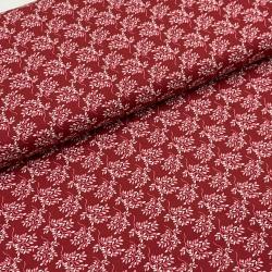 Tkanina bawełniana listki - czerwony