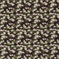 Tkanina bawełniana kamuflaż, moro, zielony