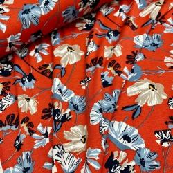 Jersey wiskoza w kwiaty