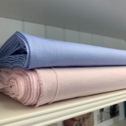 Włoska tkanina koszulowa różowa