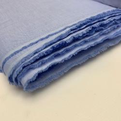 Włoska tkanina koszulowa niebieska