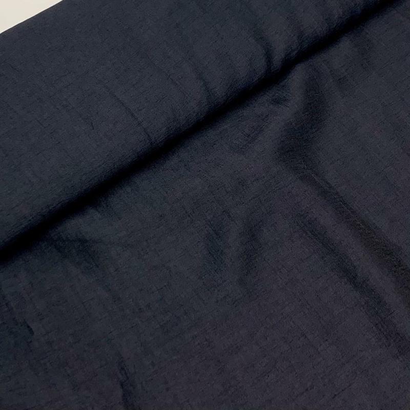 Włoska tkanina wiskozowa granatowa
