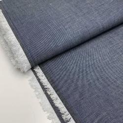 Włoska tkanina bawełniana - jedwab - jeans
