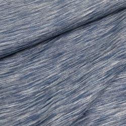 Włoska tkanina lniana niebieska