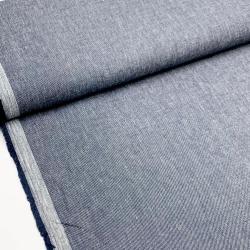 Włoska tkanina bawełniana z lnem - jeans