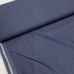 Włoska tkanina bawełniana - jeans koszulowy granatowy