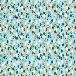 Tkanina bawełniana wzór - abstract mięta