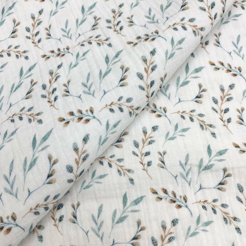 Tkanina bawełniana - muślin - zielnik