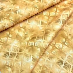 Tkanina wodoodporna retro gold