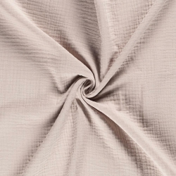 Tkanina bawełniana - muślin - beżowy